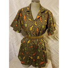 NEO80 Retro Romper in 100% Cotton Vintage Print - Neo80Now