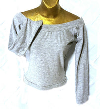 NEO80 Vintage Stretch Heather Knit Long SL Top - Neo80Now