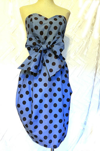 NEO80 PARTY Tulip Wrap Dress in Cotton Dot - Neo80Now