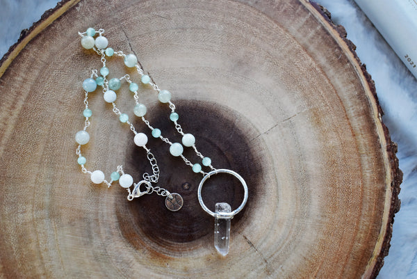 Crystal Cluster Garden/Plant Stake {Blue Iridescent}