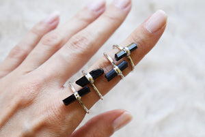 Square Moonstone Silver Ring {US SIZE 6}
