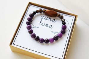 Ocean Waves Stained Glass Incense Holder {Blue Iridescent, Green-Blue and White Wispy Glass}
