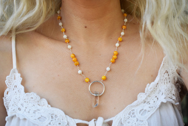 Crystalline Moon Stained Glass {Pink & White Iridescent}
