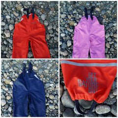 Waterproof Double knee bib Rainpants