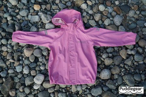 Puddlegear Kids Pink Raincoat with Hood