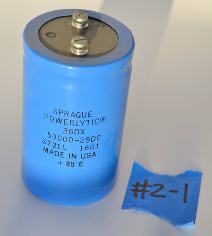 Capacitor Sprague Powerlytic 50,000 uF 25 VDC 36DX
