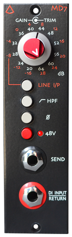 Avedis Audio MD-7 Microphone Preamp 500 Series Module : Free Shipping in the USA.