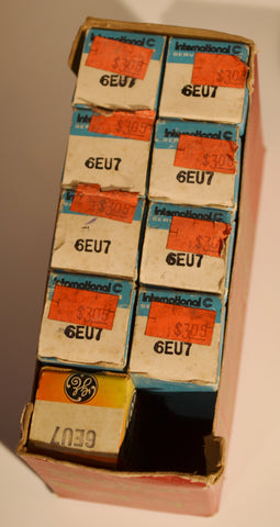 Tubes 6EU7 New Old Stock in Original Boxes International Brand