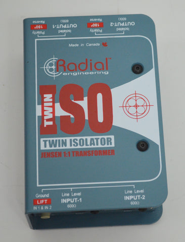 Radial Engineering Twin Isolator Box Jensen 1:1 Transformer