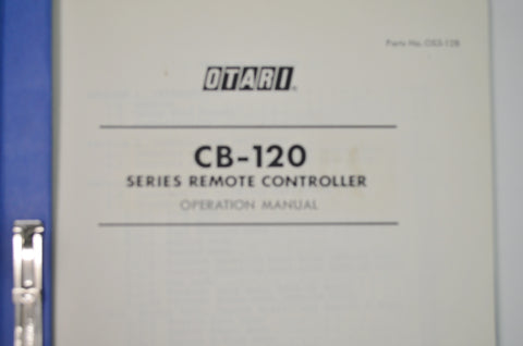 Otari Original  Manual CB-120 Remote Control