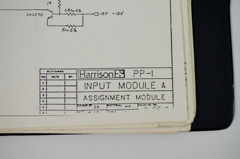 Harrison PP1 Original Console Manual