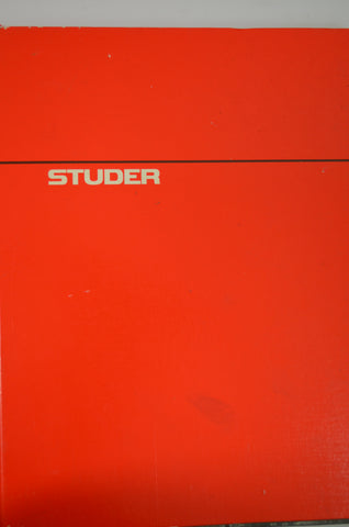 Studer A820 MCH Original Manual