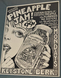 Art : John Seabury Original Ink on Paper Poster Art Pyno Jam featured  in the Art of Rock book