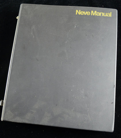 Neve 5312 ( Melbourne MK2 ) Console Manual original vintage NOT a copy