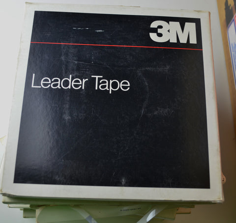 "Scotch 1/4"" Plastic Leader Tape N.O.S.  7""reels"