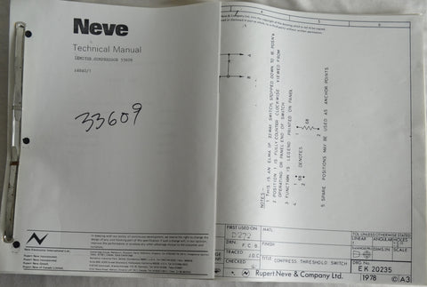 Neve 33609 Limiter Manual High Quality Copy