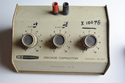 Heathkit IN-27 Decade Capacitance Box