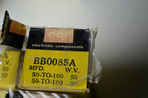 CDE BB0085A Electrolytic Multistage Capacitor N.O.S.