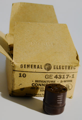 Pultec Original AC Connectors NOS General Electric 4317-1 AC Female Connectors