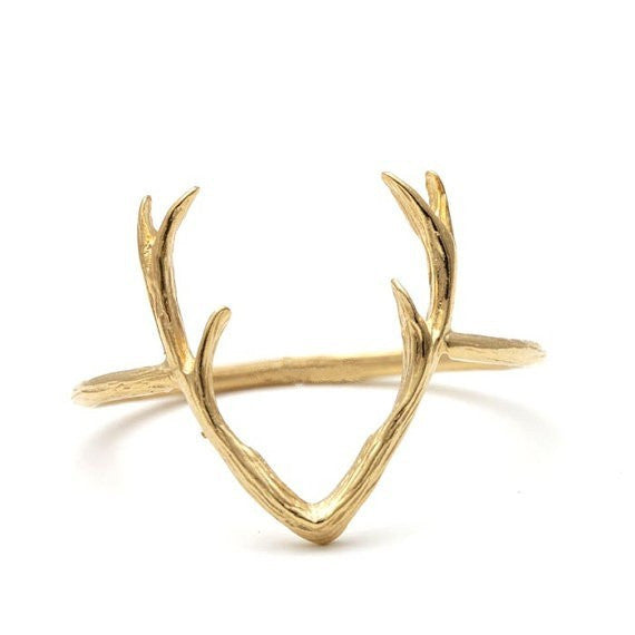 New Fashion Jewelry Rings Cute Animal Deer Antler Rings for Women