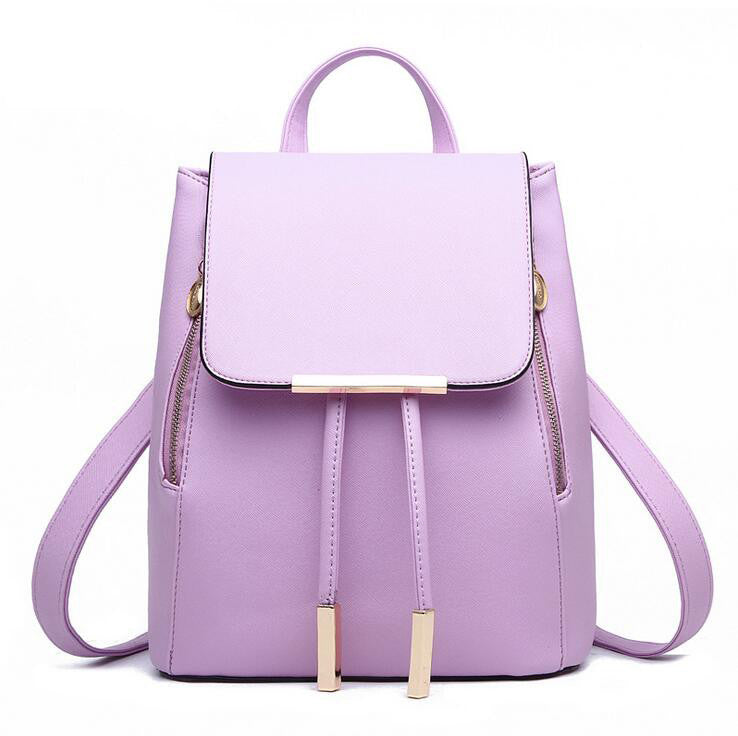 School Top-handle Backpack High Quality PU Leather For Teenagers Girls