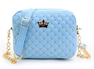 Women Bag Women Messenger Bags Rivet Chain Shoulder Bag Leather