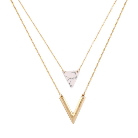 Triangle Pendant Necklace Jewelry