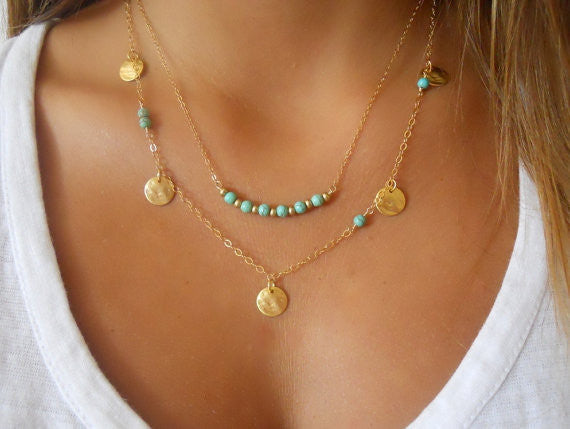 Fatima Multi layer Chain Pendant Necklace