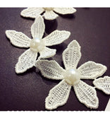 white Choker Collar Necklaces Flower Necklaces & Pendants