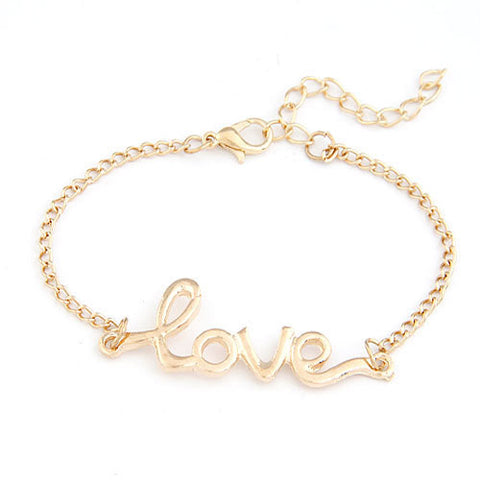 New Fashion Love Bracelets & Bangles for Women Men Jewerly Gold Chain