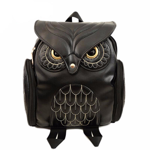 FREE!! Women Backpack 2017 Black PU Leather Owl [ Just Pay Shipping! ]