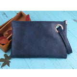 solid women's clutch bag leather women envelope bag
