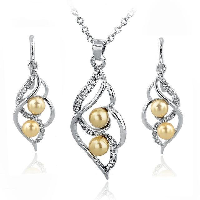 Jewelry Sets for Women Bridal Crystal Gold