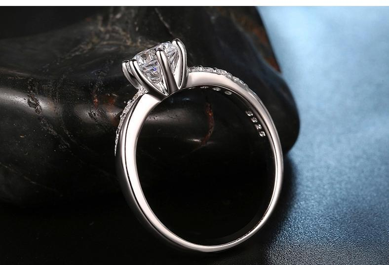 Hot silver plated & shiny zircon female finger rings