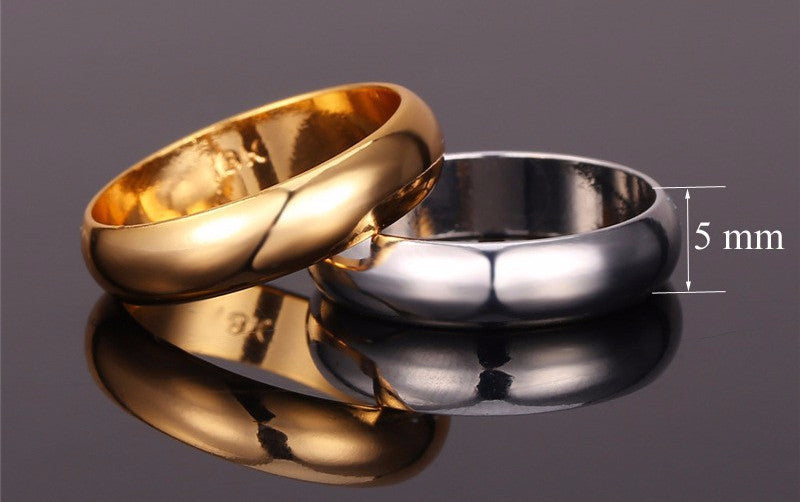 Gold silver Plated Rings High Quality Women/Men