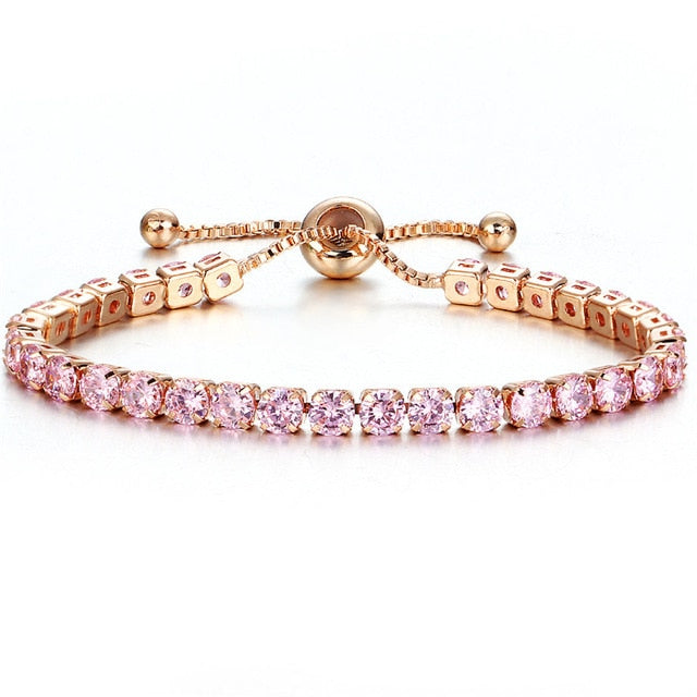 Cubic Zirconia Charm  Bracelet & Bangle Adjustable