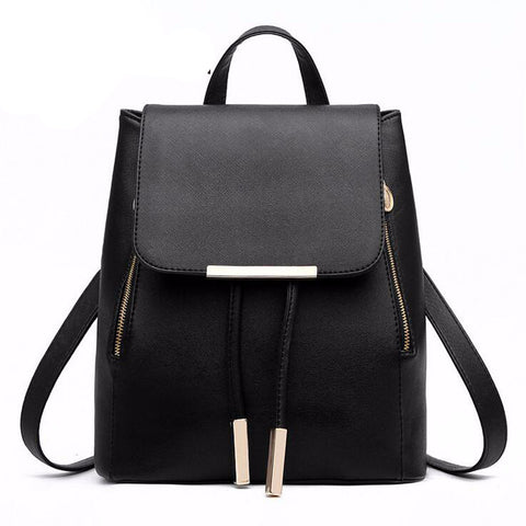 Women Backpack High Quality PU Leather  Girls Top-handle