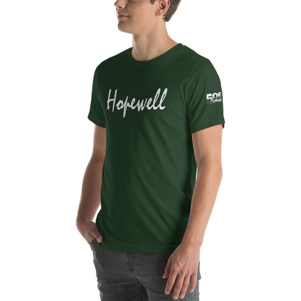 Short-Sleeve Unisex T-Shirt - Hopewell - White - 506 Apparel