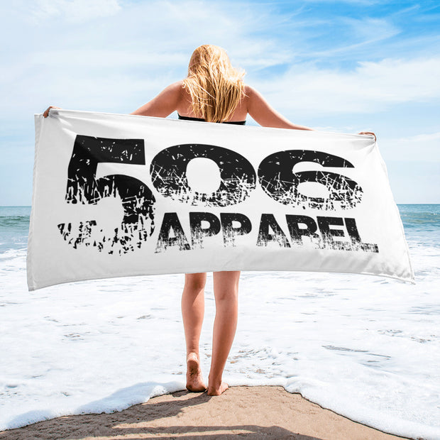 Towel - Black/White - 506 Apparel