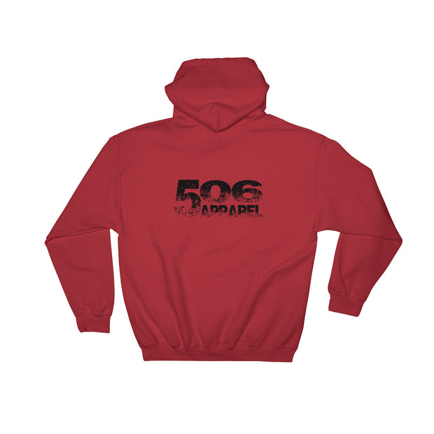Hooded Sweatshirt - Backside - Black - 506 Apparel