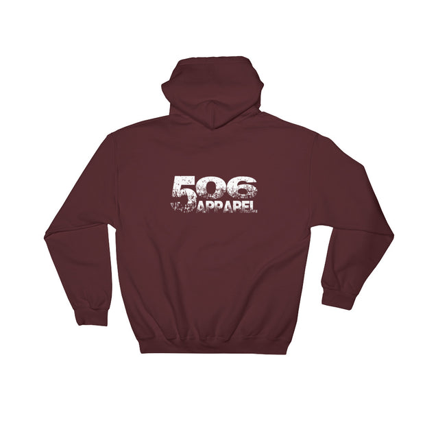 Hooded Sweatshirt - Backside - White - 506 Apparel