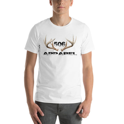 Short-Sleeve Unisex T-Shirt - 3D Antlers - Black - 506 Apparel