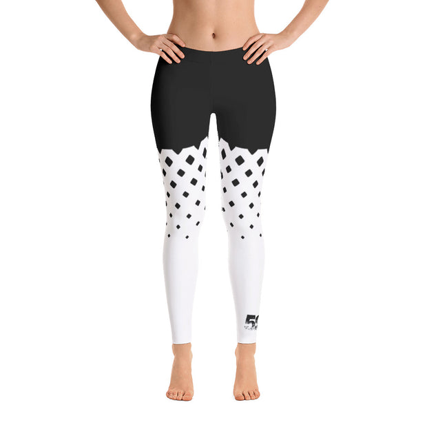 Leggings - Diamond - Black/White - 506 Apparel