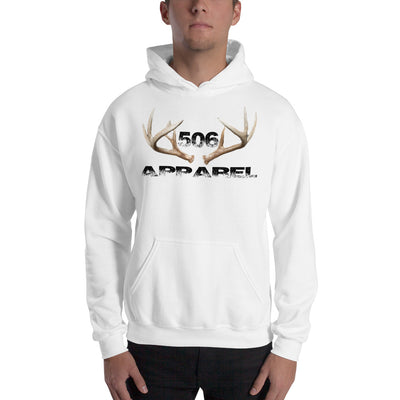 Hooded Sweatshirt - 3D Antlers - Black - 506 Apparel