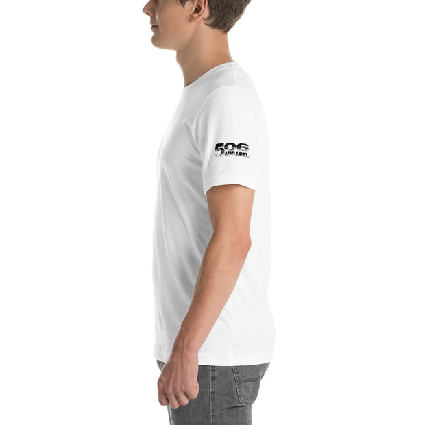 Short-Sleeve Unisex T-Shirt - Plain - Black - 506 Apparel