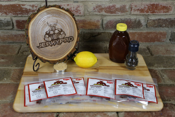 10 JerkyPro 1oz Original Shredded Beef Jerky Snack Packs
