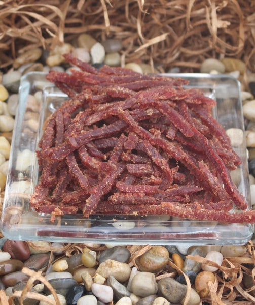 10 JerkyPro 1oz Peppered Shredded Beef Jerky Snack Packs