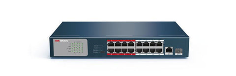 Hikvision Network Switch - 18-Port w/ 16 x PoE Ports