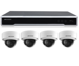 8CH 4K NVR with 4 x 8MP DOMES & 4Tb HARD DRIVE
