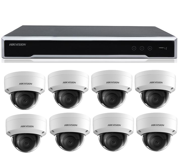 Hikvision 8-Channel 4K NVR w/ 8 x 8MP Camera Package